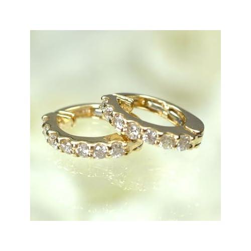 [キュートジュエリー]Cute jewerly K18・ダイヤモンド0.28ct ピアリング