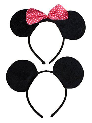 可愛い マウスのミミ カチューシャ コスプレ パーティー ハロウィン (リボンあり)