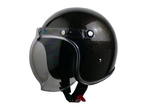 リード工業 バイクヘルメット ジェット MURREY MR-71 ラメ仕様 ブラックラメ L 59~60cm未満