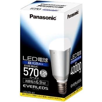 パナソニック EVERLEDS LED電球(密閉型器具対応・E26口金・一般電球形・電球40W相当・570ルーメン・昼光色相当)LDA7DA1