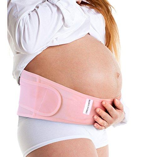 妊婦帯 産前 産後 腰痛 体にフィット フリーサイズ ピンク