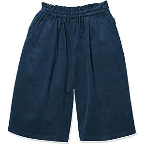 [ベルメゾン] シンプル 子供服 通園 通学 ガウチョパンツ ガールズ D24525 ブルー 日本 130 (日本サイズ130 相当)