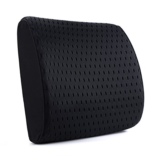 Aoomiya 腰痛 クッション 車腰痛クッション 3D立体カバー 風通しの良い ランバーサポート 腰痛対策 背当て 背もたれ 運転 オフィス 健康クッション