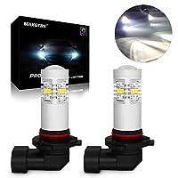 MAXGTRS 9005 3020チップ6000K白色LEDフォグ電球HB3 LEDフォグライト、昼間のランニングライト、フォグランプ用360度の非常に明るいコンデンサーレンズ付き
