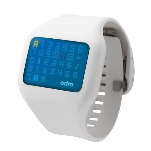 [オーディーエム]o.d.m 腕時計 illumi (イルミ) デジタル表示 5気圧防水 ホワイト×ブルー DD126-8 メンズ 【正規輸入品】