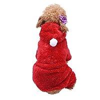 Tichan ペット犬フード付き服寒い天気春暖かいスウェットシャツパーカー小中型犬と猫のための