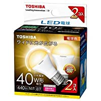 東芝 LED電球 小形電球形 440lm(電球色相当)【2個セット】TOSHIBA LDA4L-G-E17/S/40W2P
