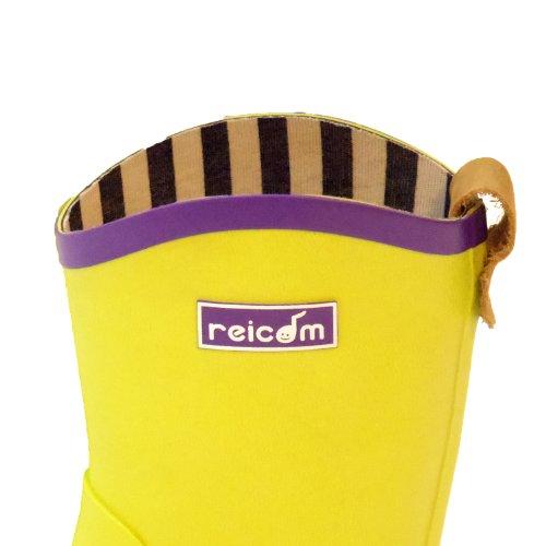 reicom Rubb×reicomコラボ キッズ レインブーツ 別注 amiens kids ライムグリーン 35 約22cm