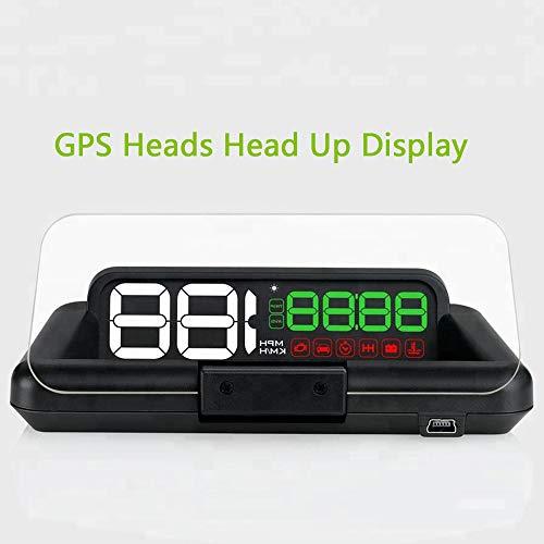 GPSヘッドディスプレイ 車両パーツ HUD 内蔵プラグプレ...