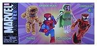 Marvel Universe Minimates 4 Pack: Thing, Spider-man, Dr. Doom, Carnage