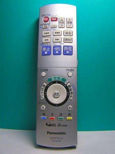 パナソニック DVD・テレビリモコン EUR7655Y40