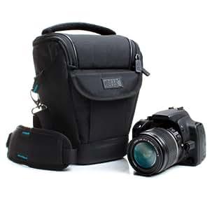 準耐候性 DSLR Zoom USA Gear 製ショルダーキャリングケース- 対応機種 Nikon D7200, Canon PowerShot SX420 IS, Sony Alpha 7R II, Panasonic Lumix DMC-FZ300 など