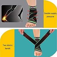 圧縮足首サポートスリーブ、ユニセックスの痛みの軽減、足底筋膜炎、関節炎、回復、弱い、足首の怪我のための医療通気性足首ブレース弾性薄い足ケアスリーブソックス (Color : As Picture, Size : XL)