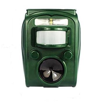動物撃退器 超音波式 ソーラー充電 センサー付き 迷惑な 野良 犬 猫 ネズミ カラス 害鳥対策 ヤンキー DQN対策にも USB充電可 【簡単な日本語説明書付】 (1個)