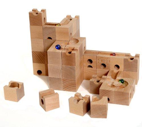 HUIZorbit スタンダード 54個 日本製ビー玉19個付き!! 3次元での構成力や論理的思考、閃き力を養えます! 積み木 立体迷路 ビー玉 ころがし 積み木 おもちゃ ボールトラック