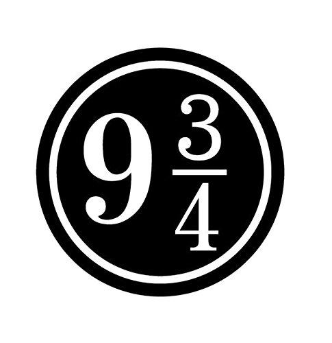 ハリーポッター Harry Potter 9と3/4番線 ロゴ マーク ステッカー シール  ブラック