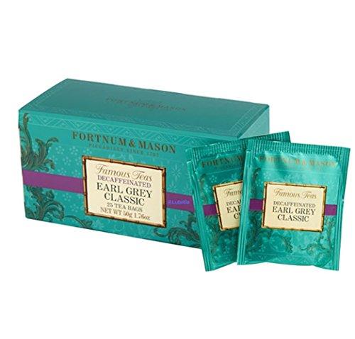 フォートナム&メイソン Earl Grey Classic, 25 Decaffeinated Tea Bags ティーバッグ 25個入り 個包装 ノンカフェイン アールグレイクラシック [並行輸入品]