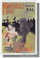 ディズニー マドモワゼル・マウス【ポスター+アルミフレーム】約91 x 61 cm ホワイト