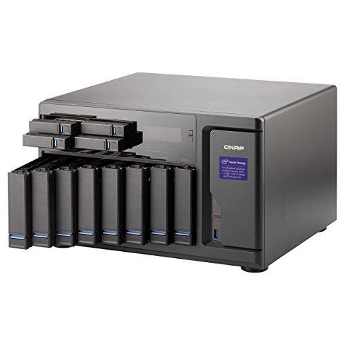 Qnap 12 Bay NAS/iSCSI IP-SAN, Intel Skylake Core i5 3.6GHz Quad Core, 16GB RAM, 10G-ready (TVS-1282-i5-16G-US) [並行輸入品]
