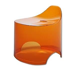 シンカテック 風呂椅子 デュロー バススツール N クリアオレンジ