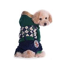 秋と冬の新しいペット犬服ペット用品犬綿プラスベルベット肥厚4足ペット犬服,A,M