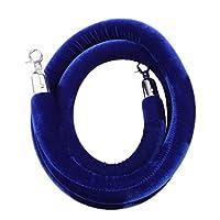 Baosity ロープ バリア 2m/3m 全4色 群衆制御 パーティション フック付 ベルベット  - 3m青