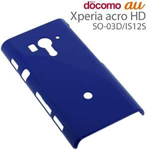 ラスタバナナ Xperia acro HD(SO-03D/IS12S)用 ハードケース ラメ/ブルー C830ACROHD