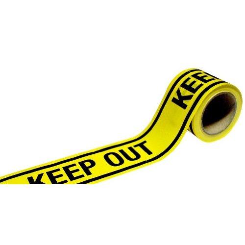 KEEP OUTバリケードテープ 50m 工事現場  荷造り 場所取りの確保に!