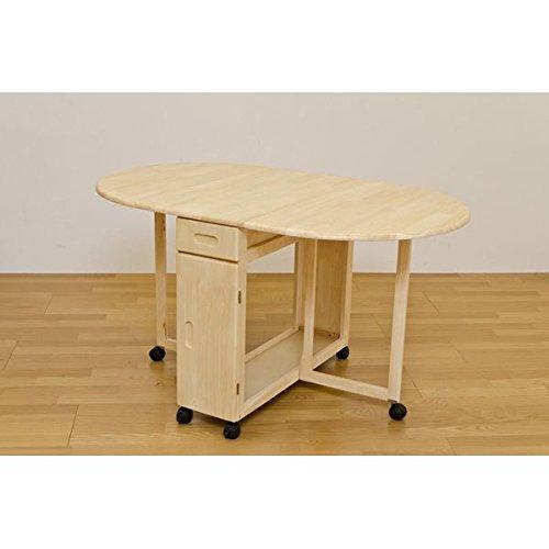 バタフライダイニング5点セット〔折りたたみテーブル1点&チェア4脚セット〕 木製(天然木) 木目調 ナチュラル〔代引不可〕