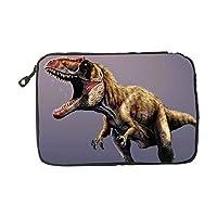 電子アクセサリートラベルバッグ カートゥーン 恐竜 USBフラッシュドライブケース バッグ 財布 SDメモリーカードケーブルオーガナイザー ONE SIZE ブルー