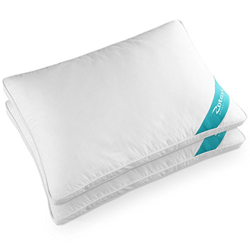 Zotoyi 快眠 枕 ハイクラス 高級ホテル仕様 安眠枕 低反発枕 横向き対応 肩こり対策 人気のいびき対策枕 丸洗い可能 立体構造43x63cm 2個セット 家族のプレゼント (ホワイト)