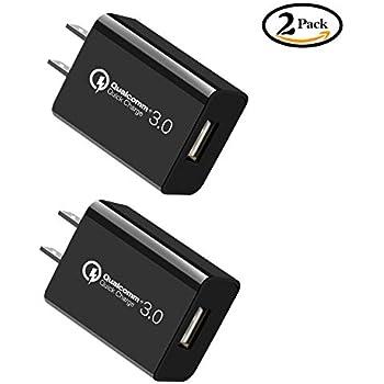 USB 急速充電器 QC 3.0 ACアダプター Tinin コンセント 軽量スマホ携帯充電 超小型2個セット 持ち運び チャージャー 旅行用/iPhone/iPad/Androidなどスマホのご対応 PSE認証