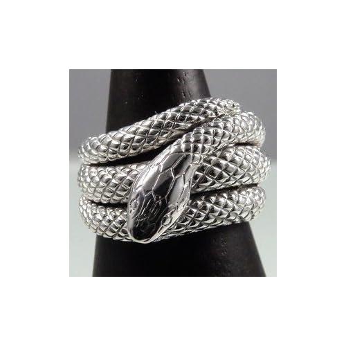 スネークリング指輪開運白蛇リングシグニティーキュービックジルコニアホワイトゴールドリング