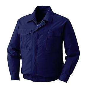 株式会社空調服 綿薄手長袖ワークブルゾン ワイドファンタイプ 電池ボックス仕様 M-500U M ダークブルー