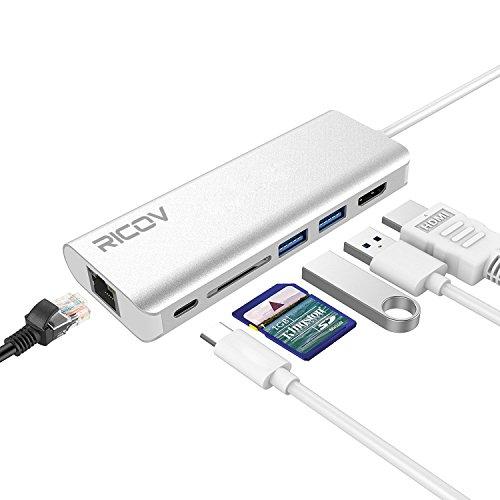 RICOV ハブ Type-C(USB C) 3.1 6ポー...