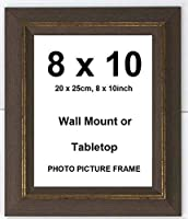 Elaine Karen Deluxe Wood Antique Rustic Photo Picture Frame – Brown – 8x10 [並行輸入品]