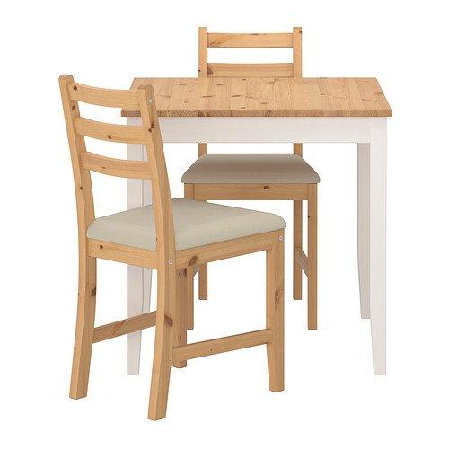 LERHAMN テーブル&チェア2脚