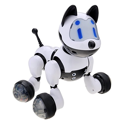 Haibei 電子ロボットペット ロボットペット犬 電子犬 コミュニケーション電子犬 おもちゃ 電池式 子供の誕生日 新年プレゼント