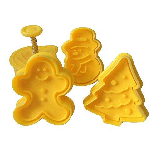 (ステキ ライフ)Suteki Life 可愛い クッキー型 クッキー抜き型セット 4ヶ入 クリスマスセット 手作り クリスマスプレゼント 道具