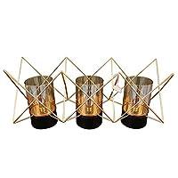 BICCQアートワーク ハイグレードな装飾品のガラス製品燭台メタルMテンプレートのリビングルームの装飾品ホームデコレーション円53 * 20 * 24センチメートル
