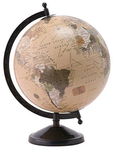 PL ディスプレイ用 地球儀 アンティークグローブL ホワイト 80457