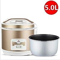 炊飯器保温機能プレミアム品質5L 4L 3Lホワイトゴールドインナーポットヘラ計量カップライス最大20人 C