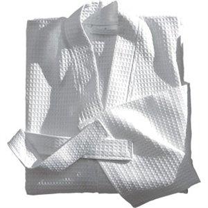 ワッフルバスローブシングル。綿100%、300g/m2。