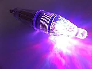 ナイトフィッシング 集魚灯 水中 ライト LED 高輝度 レインボー 12cm (レインボー)