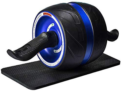 【進化版】 COREFLEX 腹筋ローラー ダイエット 器具 腹筋 超静音アブホイール エクササイズ 膝マット付き ブルー