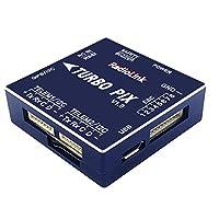 Radiolink TURBO PIX V1.0モジュールPPM SBUSフライトコントローラー、RCドローン用の8チャンネル出力をサポート-青-青
