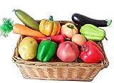 お野菜 & タマゴ 模型 食品サンプル どっさり 12種類セット (野菜11種+玉子) ディスプレイなどに