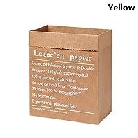 1ピースdiy家の装飾乾燥植物バスケット結婚式クラフト紙袋植木鉢造花花瓶クラフト紙袋植木鉢 (Color : Yellow)