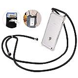 iPhone 6/6s/7/8ケース スマホストラップ SHANSHUI,肩掛け 首掛けストラップ TPU全面保護 肩掛け 斜め掛け落下防止 iphone カバー 背面ポケット (4.7インチ)