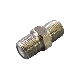 [フジパーツ] アンテナ中継プラグ F型中継接栓 [1個入]